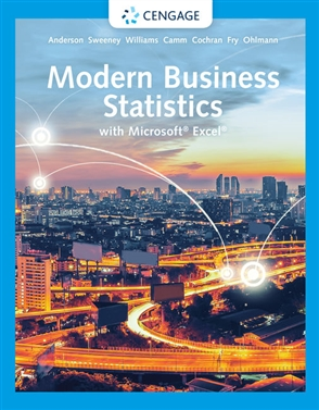 Modern Business Statistics with Microsoft® Excel® - 9780357131381