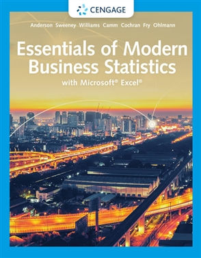 Essentials of Modern Business Statistics with Microsoft® Excel® - 9780357131626