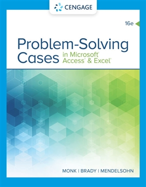 Problem Solving Cases In Microsoft Access & Excel - 9780357138632