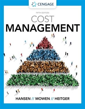 Cost Management - 9780357141090