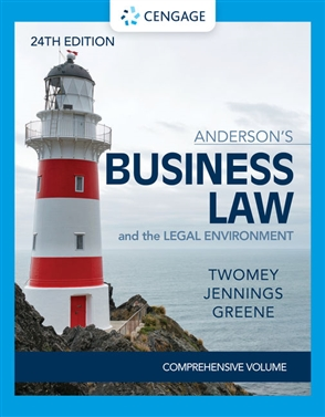 Anderson's Business Law & The Legal Environment - Comprehensive Edition - 9780357363744
