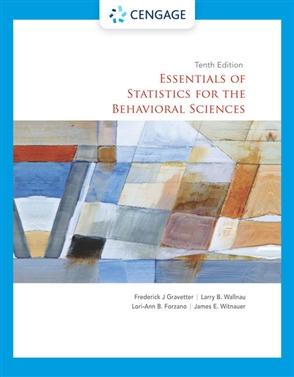 Essentials of Statistics for the Behavioral Sciences - 9780357365298