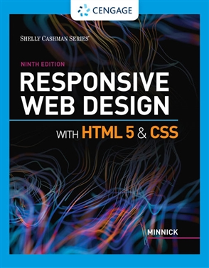 Responsive Web Design With Html 5 Css Buy Textbook Jessica Minnick 9780357423837 University Cengage Australia