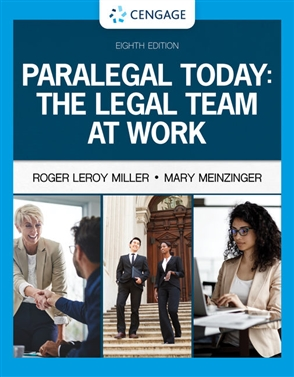 Paralegal Today: The Legal Team at Work - 9780357454053
