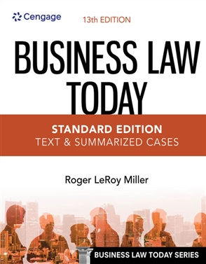 Business Law Today, Standard: Text & Summarized Cases - 9780357634851