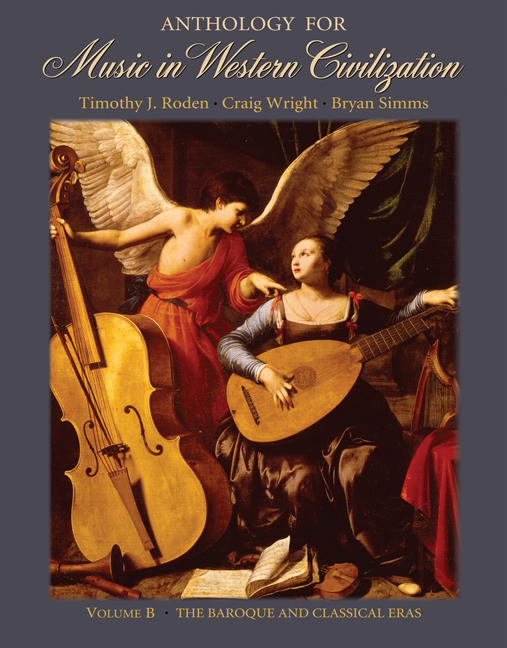 Anthology for Music in Western Civilization, Volume B: The Baroque and Classical Eras - 9780495008811