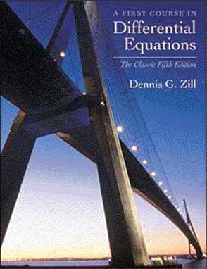 First Course in Differential Equations: The Classic Fifth Edition - 9780534373887