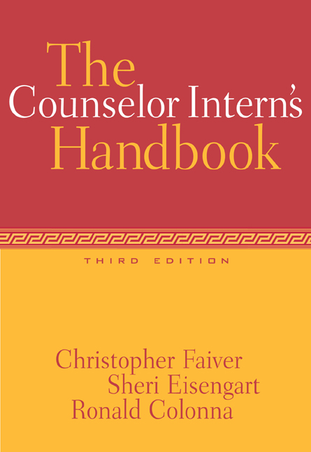 The Counselor Intern's Handbook - 9780534528355