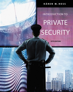 Introduction to Private Security - 9780534632045