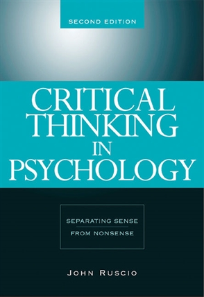 Critical Thinking in Psychology: Separating Sense from Nonsense - 9780534634599