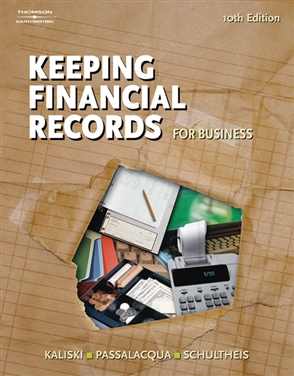 Keeping Financial Records for Business - 9780538441537