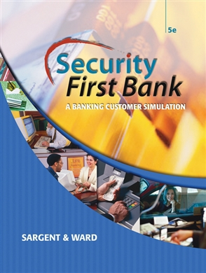 Security First Bank: A Banking Customer Simulation - 9780538443999