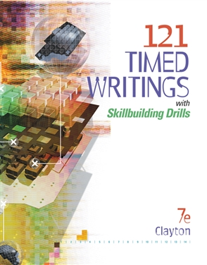 121 Timed Writings with Skillbuilding Drills - 9780538444392