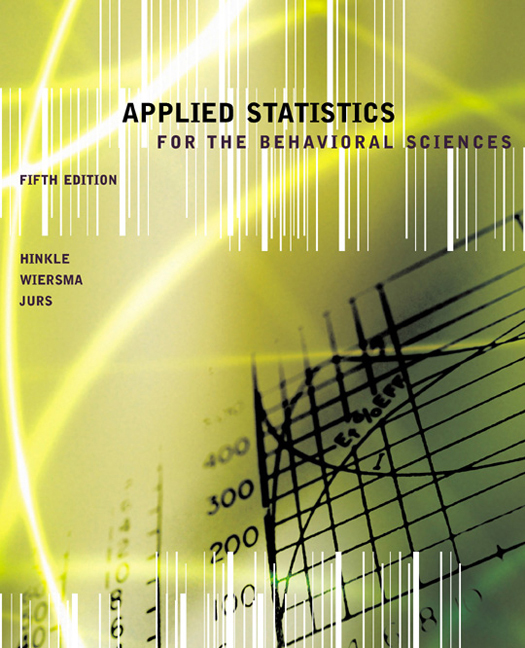 Applied Statistics for the Behavioral Sciences - 9780618124053