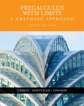 Precalculus with Limits: A Graphing Approach - 9780618394784