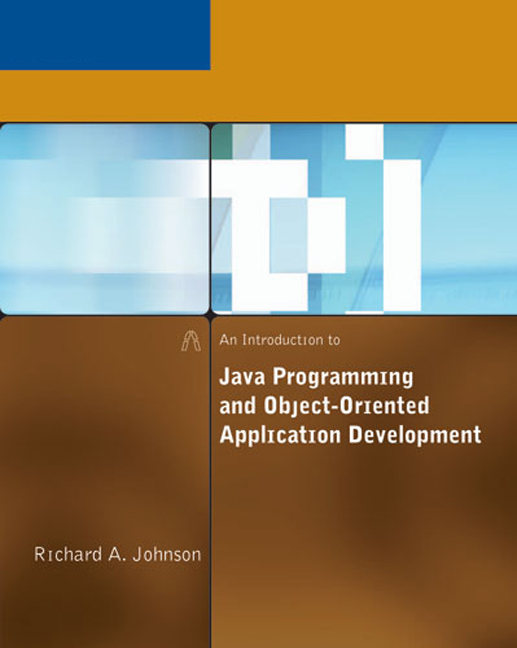An Introduction to Java Programming and Object-Oriented Application Development - 9780619217464