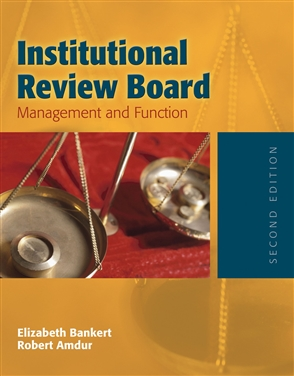 Institutional Review Board: Management And Function - 9780763730499