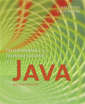 Programming And Problem Solving With Java - 9780763734022