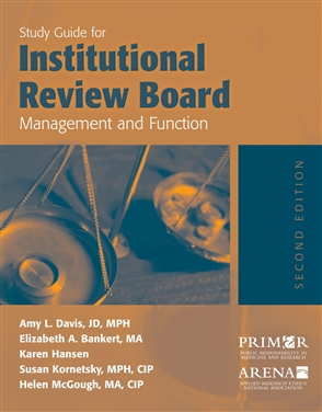 Study Guide For Institutional Review Board Management And Function - 9780763738662