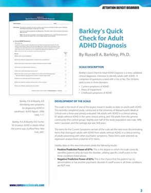 Barkley's Quick Check for Adult ADHD Diagnosis - 9780763763053