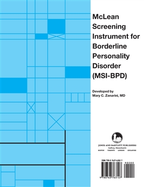 Mclean Screening Instrument For Borderline Personality Disorder (MSI-BPD) - 9780763763107