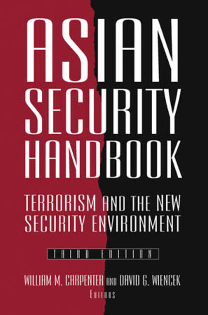Asian Security Handbook - 9780765622143