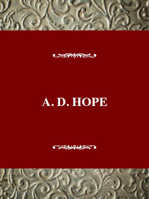 A. D. Hope - 9780805770490