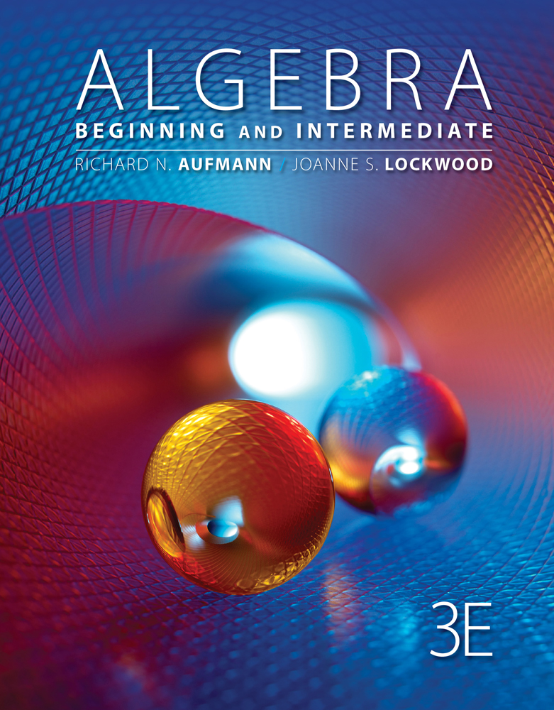 Algebra: Beginning and Intermediate - 9781111579500