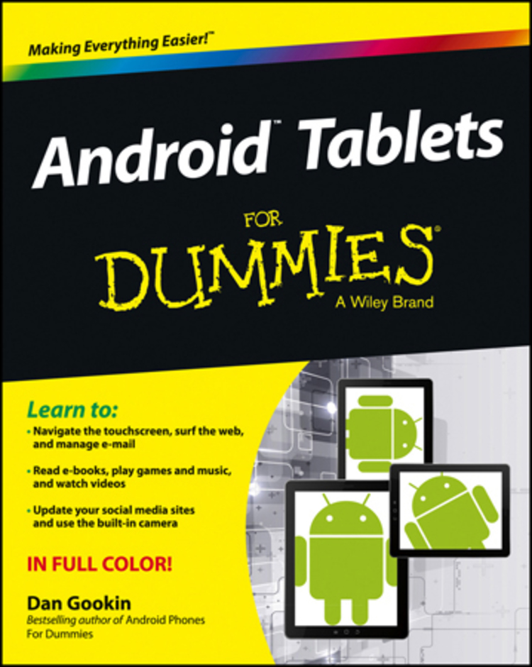 Android Tablets For Dummies - 9781118543252