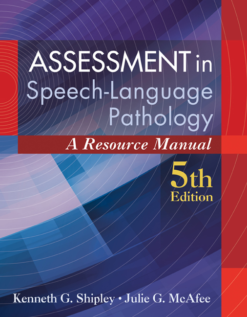 Assessment in Speech-Language Pathology: A Resource Manual - 9781285198057