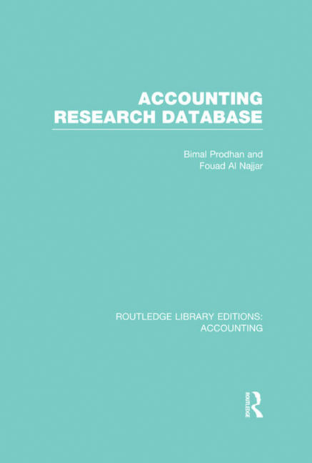 Accounting Research Database - 9781317962953