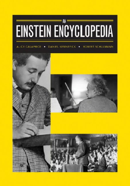 An Einstein Encyclopedia - 9781400873364