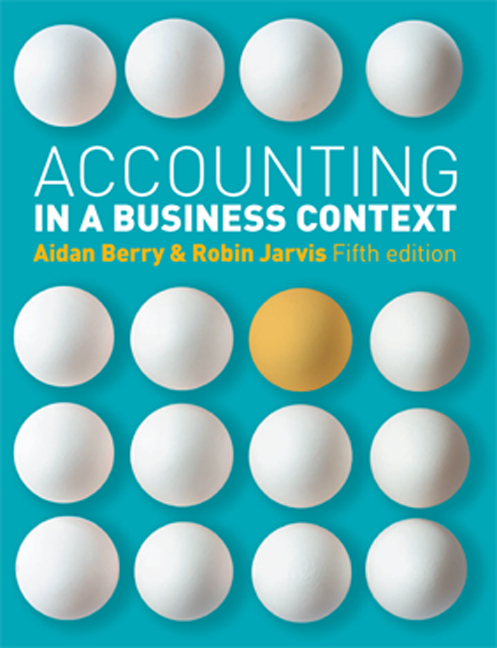 Accounting in a Business Context - 9781408030479