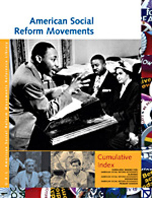 American Social Reform Movements Reference Library Cumulative Index - 9781414402208