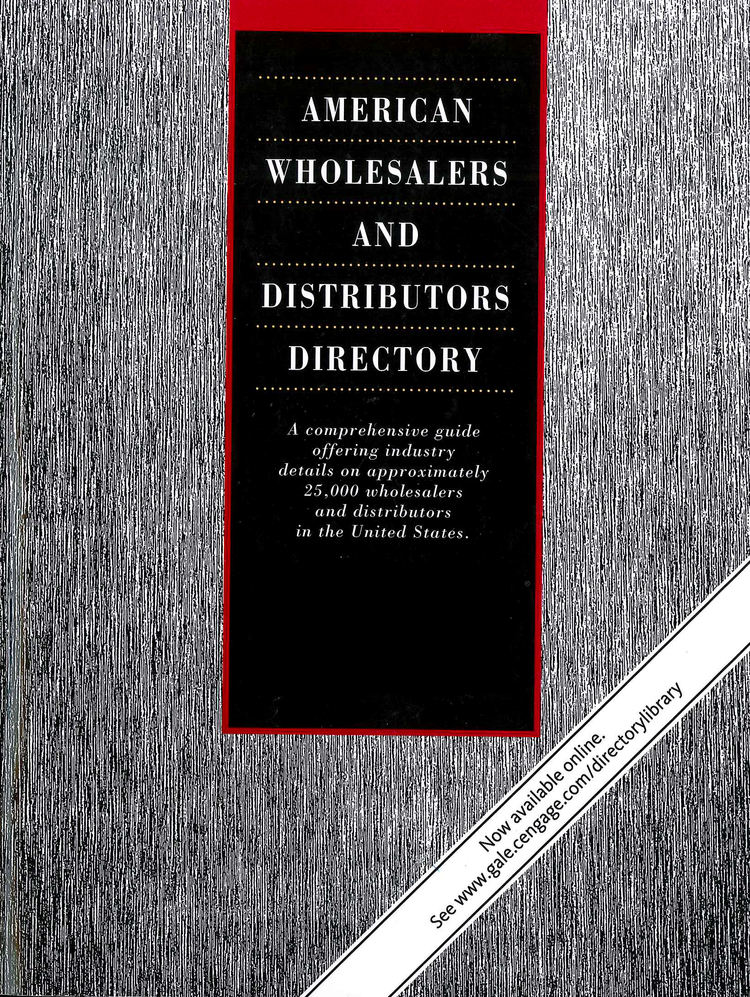 American Wholesalers and Distributors Directory - 9781414453835
