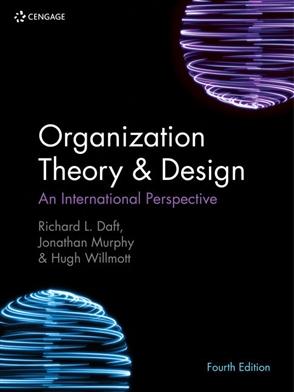 Organization Theory Design Buy Textbook Richard Daft 9781473765900 University Cengage Australia