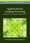 Applied Natural Language Processing: Identification, Investigation and Resolution - 9781609607425