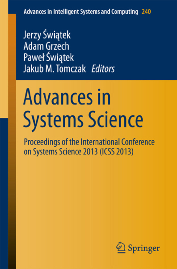 Advances in Systems Science - 9783319018577