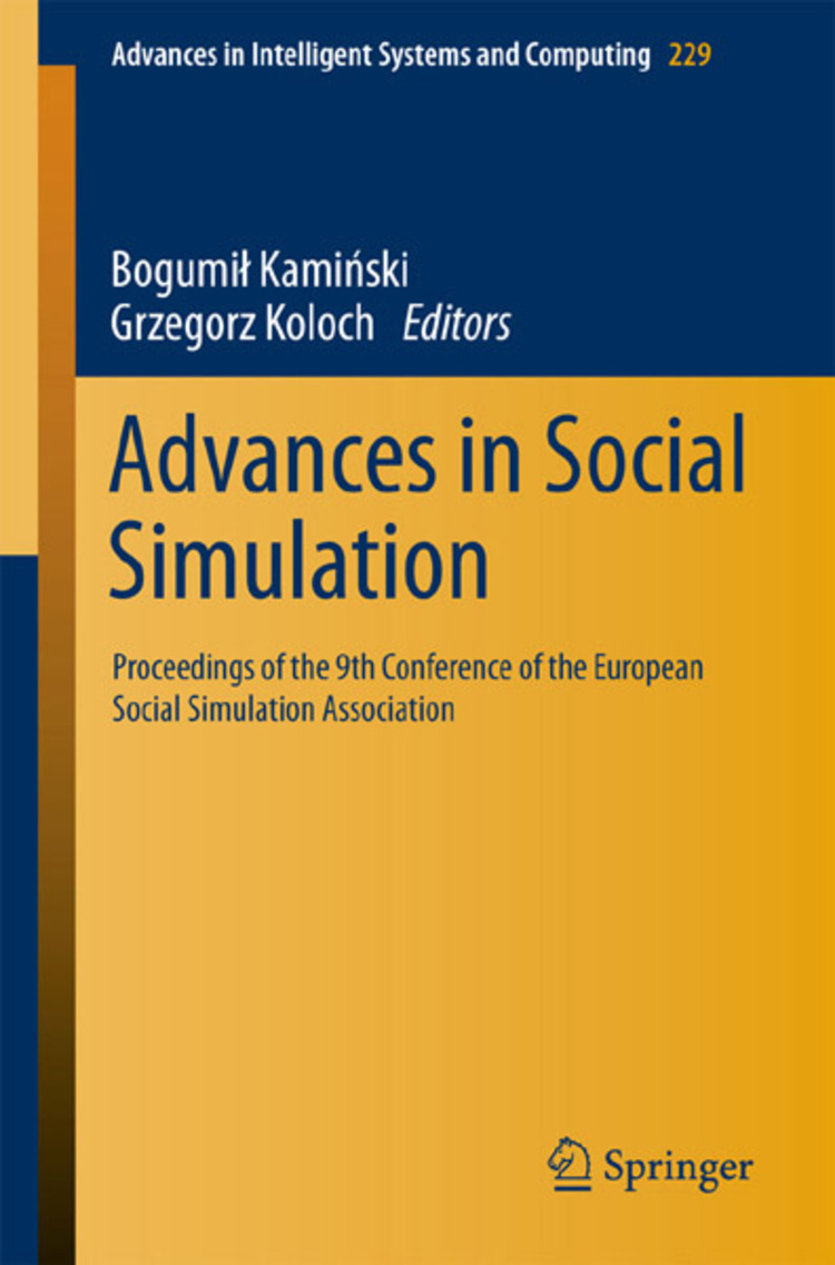 Advances in Social Simulation - 9783642398292