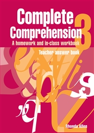 Complete Comprehension 3 Teacher Answer Book - 9780170111287