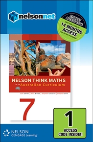 Nelson Think Maths 7 for the Australian Curriculum (1 Access Code Card) - 9780170214124