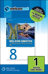 Nelson QMaths 8 for the Australian Curriculum 1 Access Code - 9780170214247