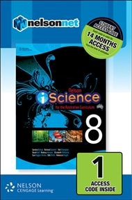 Nelson iScience for the Australian Curriculum Year 8 (1 Access Code Card) - 9780170214308