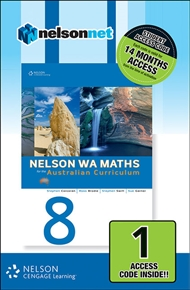 Nelson WA Maths 8 for the Australian Curriculum (1 Access Code Card) - 9780170214339