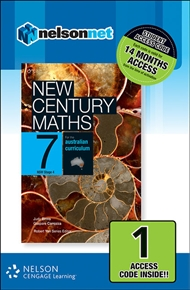 New Century Maths 7 for the Australian Curriculum NSW Stage 4 1 Access Code - 9780170215534