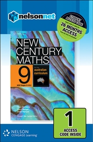New Century Maths 9 for the Australian Curriculum NSW Stages 5.1/5.2 (1 Access Code Card) - 9780170215558