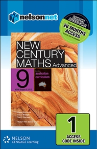 New Century Maths Advanced 9 for the Australian Curriculum NSW Stage 5.2/5.3 (1 Access Code Card) - 9780170215640