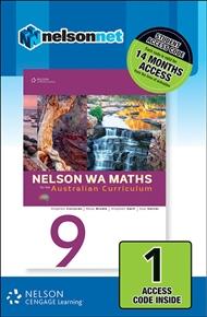 Nelson WA Maths 9 for the Australian Curriculum (1 Access Code Card) - 9780170218139