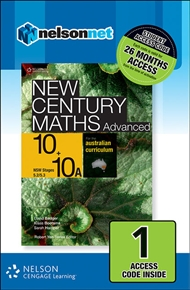 New Century Maths Advanced 10+10A for the Australian Curriculum NSW (1 Access Code Card) - 9780170218184