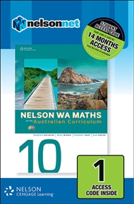 Nelson WA Maths 10 for the Australian Curriculum (1 Access Code Card) - 9780170218818